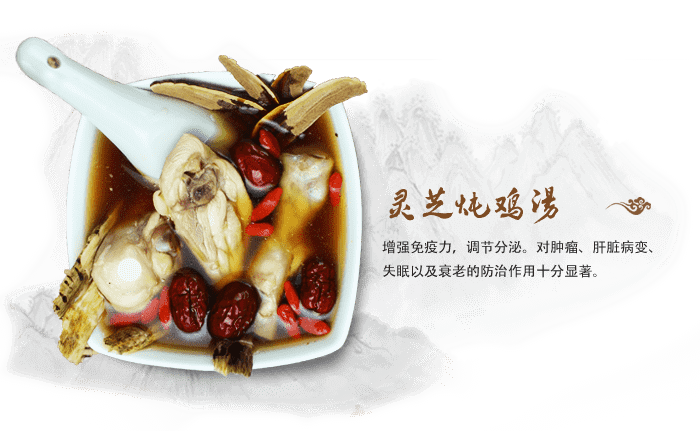 GANODERMA LUCIDUM STEWED CHICKEN SOUP