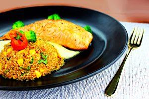 Tian Wei Signature Creation Salmon and Quinoa Salsa