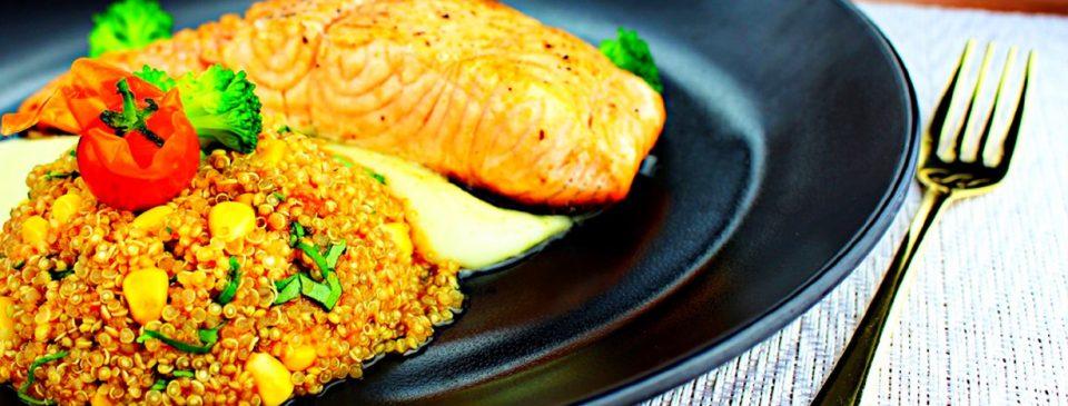 Tian Wei Signature Creation - Salmon and Quinoa Salsa
